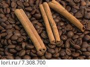 Кофе и корица. Стоковое фото, фотограф Роман Червов / Фотобанк Лори