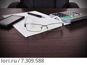 Рабочий стол бизнесмена. Стоковое фото, фотограф Виталий Китайко / Фотобанк Лори