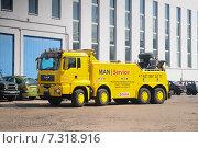 Сервис автомобиль MAN тягач. Редакционное фото, фотограф Екатерина Тимонова / Фотобанк Лори