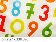Colorful background with rendom numbers. Стоковое фото, фотограф Ярочкин Сергей / Фотобанк Лори