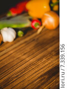 Купить «Vegetables laid out on table», фото № 7339156, снято 12 февраля 2015 г. (c) Wavebreak Media / Фотобанк Лори