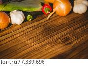 Купить «Vegetables laid out on table», фото № 7339696, снято 12 февраля 2015 г. (c) Wavebreak Media / Фотобанк Лори