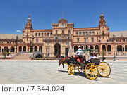 Купить «Plaza de Espana (Place d' Espagne), built between 1914 and 1928 by the architect Anibal Gonzalez, Sevilla, Andalucia, Spain», фото № 7344024, снято 27 марта 2019 г. (c) BE&W Photo / Фотобанк Лори