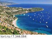 Купить «Roquebrune Cap Martin seen from Mont Gros above Monaco, Departement Alpes Maritimes, Region Provence-Alpes-Cote d'Azur, France», фото № 7344084, снято 16 января 2019 г. (c) BE&W Photo / Фотобанк Лори