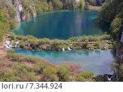 Купить «Croatia, Plitvicka Jezera, Plitvice Lakes National Park, Plitvice Lakes National Park», фото № 7344924, снято 18 декабря 2018 г. (c) BE&W Photo / Фотобанк Лори