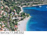 Купить «Roquebrune Cap Martin seen from Mont Gros above Monaco, Departement Alpes Maritimes, Region Provence-Alpes-Cote d'Azur, France», фото № 7345032, снято 16 октября 2018 г. (c) BE&W Photo / Фотобанк Лори