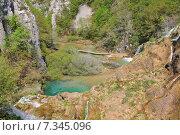 Купить «Croatia, Plitvicka Jezera, Plitvice Lakes National Park, Plitvice Lakes National Park», фото № 7345096, снято 18 декабря 2018 г. (c) BE&W Photo / Фотобанк Лори