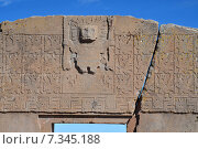 """bolivia - tiwanaku, """"gateway of the sun""""Bolivia, Tiwanaku, Gateway of the Sun. Стоковое фото, агентство BE&W Photo / Фотобанк Лори"""