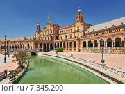 Купить «Plaza de Espana (Place d' Espagne), built between 1914 and 1928 by the architect Anibal Gonzalez, Sevilla, Andalucia, Spain», фото № 7345200, снято 27 марта 2019 г. (c) BE&W Photo / Фотобанк Лори