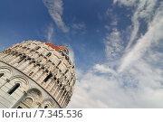 Купить «The Baptistry of the Cathedral of Pisa. Piazza dei miracoli, Pisa, Italy.», фото № 7345536, снято 16 октября 2018 г. (c) BE&W Photo / Фотобанк Лори