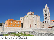 Croatia, Zadar, The Church of St. Donatus is a church located in Zadar. Its name refers to Donatus of Zadar, who began construction on this church in the 9th century and ended it on the northeast... Стоковое фото, агентство BE&W Photo / Фотобанк Лори