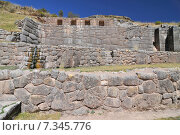 Купить «peru - tambomachay or tampumachay, archaeological site associated with the inca empire, located near cusco.Peru, Cuzco Area, Crow Valley, Tambomachay, Ruin Spring», фото № 7345776, снято 25 апреля 2019 г. (c) BE&W Photo / Фотобанк Лори
