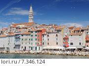 Купить «Croatia, Istria, Rovinj, Old town architecture of Rovinj, Croatia.», фото № 7346124, снято 26 марта 2019 г. (c) BE&W Photo / Фотобанк Лори