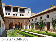 Spain, Andalusia, Granada, Alhambra, Generalife Gardens listed as World Heritage by UNESCO. Стоковое фото, агентство BE&W Photo / Фотобанк Лори