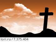 Купить «Composite image of wooden cross», фото № 7375404, снято 3 июня 2020 г. (c) Wavebreak Media / Фотобанк Лори