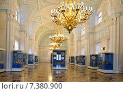 Купить «Александровский зал Зимнего дворца», фото № 7380900, снято 25 января 2015 г. (c) Валерия Попова / Фотобанк Лори