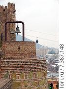 Купить «Нарикала - городская оборонительная крепость Тбилиси. Кирпичные стены», фото № 7387148, снято 27 февраля 2015 г. (c) Юлия Батурина / Фотобанк Лори