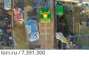 Купить «Успенский Кафедральный собор на территории Коломенского кремля, снятый с квадрокоптера», фото № 7391300, снято 24 февраля 2020 г. (c) Андрей Родионов / Фотобанк Лори