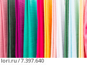 colorful textile at asian street market. Стоковое фото, фотограф Syda Productions / Фотобанк Лори
