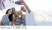 Купить «friends taking selfie with smartphone», фото № 7399172, снято 13 июля 2014 г. (c) Syda Productions / Фотобанк Лори