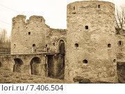 Купить «Средневековая крепость Копорье. Обработка», фото № 7406504, снято 2 мая 2015 г. (c) Nelli / Фотобанк Лори
