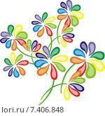 Букет разноцветных цветов. Стоковая иллюстрация, иллюстратор Людмила Любицкая / Фотобанк Лори