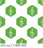 Купить «Treble clef pattern», иллюстрация № 7408364 (c) Иван Рябоконь / Фотобанк Лори