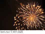 Купить «Салют в честь Дня Победы», фото № 7411020, снято 9 мая 2015 г. (c) Иванова Анастасия / Фотобанк Лори