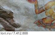 Купить «Сигирия - фрески на стене крепости», видеоролик № 7412888, снято 9 мая 2015 г. (c) Михаил Коханчиков / Фотобанк Лори