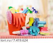 Чистящие и моющие средства. Стоковое фото, фотограф Сергей Молодиков / Фотобанк Лори