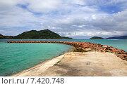 Купить «Гавань на Сейшельских островах», фото № 7420748, снято 7 марта 2015 г. (c) Юлия Машкова / Фотобанк Лори