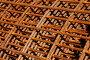 Металлическая арматура для стройки, фон, фото № 7432492, снято 6 мая 2015 г. (c) Юрий Морозов / Фотобанк Лори