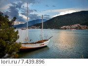 Вечер на Эгейском море. Стоковое фото, фотограф Наталья Алпатова / Фотобанк Лори