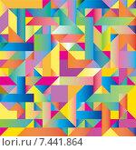 Купить «Абстрактный разноцветный фон из геометрических фигур», иллюстрация № 7441864 (c) Типляшина Евгения / Фотобанк Лори