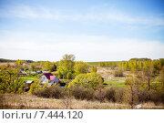 Купить «Деревенский пейзаж», фото № 7444120, снято 8 мая 2015 г. (c) Светлана Мамонтова / Фотобанк Лори