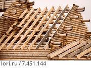 Деревянный сруб. Стоковое фото, фотограф Александр Носков / Фотобанк Лори
