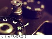 Купить «Старая фотокамера, колесо выбора выдержки и затвора», фото № 7457248, снято 18 мая 2015 г. (c) Владислав Осипов / Фотобанк Лори