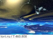Купить «Чужая планета. Скалы и луна», иллюстрация № 7460808 (c) Parmenov Pavel / Фотобанк Лори
