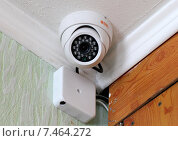 Купить «Камера видеонаблюдения в рабочем кабинете», фото № 7464272, снято 30 марта 2015 г. (c) Марина Орлова / Фотобанк Лори
