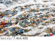 Камни в морской пене. Стоковое фото, фотограф Maria Siurtukova / Фотобанк Лори