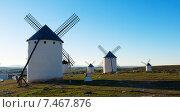 windmills in day time. La Mancha (2014 год). Стоковое фото, фотограф Яков Филимонов / Фотобанк Лори
