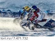 Купить «Спидвей на льду», фото № 7471732, снято 1 февраля 2014 г. (c) Andrey Michurin / Фотобанк Лори