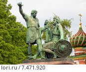 Купить «Памятник Минину и Пожарскому, Москва», фото № 7471920, снято 24 мая 2015 г. (c) Алексей Ларионов / Фотобанк Лори