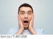 Купить «scared man shouting», фото № 7481656, снято 3 февраля 2015 г. (c) Syda Productions / Фотобанк Лори