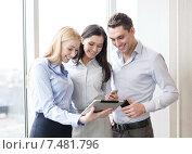 Купить «business team working with tablet pcs in office», фото № 7481796, снято 23 ноября 2013 г. (c) Syda Productions / Фотобанк Лори