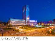 """Санкт-Петербург. Вид на бизнес-центр """"Лидер Тауэр"""", эксклюзивное фото № 7483316, снято 24 мая 2015 г. (c) Литвяк Игорь / Фотобанк Лори"""