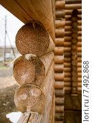 Строительство деревянного дома. Стоковое фото, фотограф Александр Носков / Фотобанк Лори