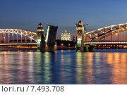 Мост Петра Великого (Большеохтинский) (2015 год). Редакционное фото, фотограф олег данильченко / Фотобанк Лори