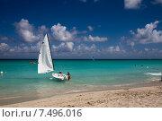 Купить «Куба. Варадеро. Пляж. Парусник», фото № 7496016, снято 5 апреля 2015 г. (c) Кочеткова Галина / Фотобанк Лори