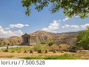 Купить «Древний языческий храм Гарни и сохранившаяся древняя баня 1-3 веков в Гарни, Армения», фото № 7500528, снято 16 августа 2014 г. (c) Emelinna / Фотобанк Лори